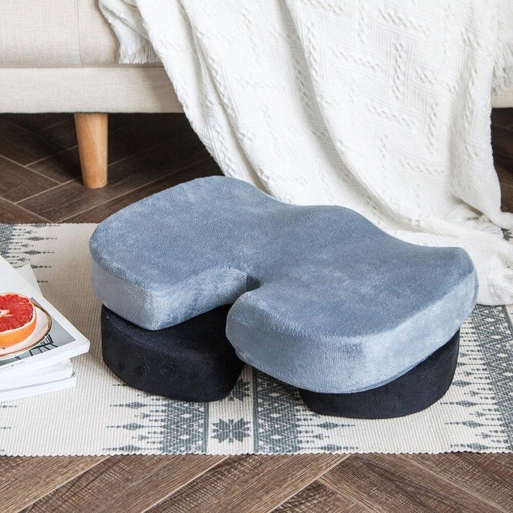 Memory Foam Memory Cotton Flannel Fabric Car Office Hip Cushion Car Seat Cushion Pillow