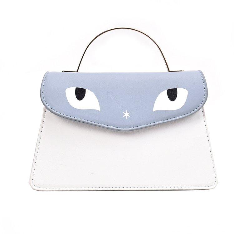 Big Eyes Fashion Girls Casual Shoulder Bag Colorful PU Lether Crossbody Bag for Women Evening Handbag Ladies Classic Clutch Tote
