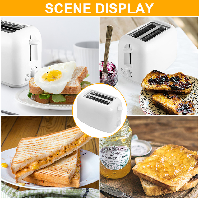 DIOZO 650W Automatic Toaster 2 Breakfast Bread Maker Baking Cooking Tool Fast Bread Toaster Household Breakfast Maker 5