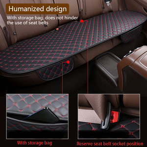 Image 4 - Car Seat Cover Set Universal Leather Car Seat Covers Protection Auto Seats Cushion Pad Mats Chair Protector Interior Accessories