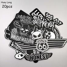 20pcs suit Punk street motorcycle clothing embroidery patch Dark style series Badge cloth paste chaqueta Iron the