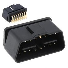 OBD-II  90 Degrees 16 Pin Male Connector Wire Sockets Connector Plug with Gold Plating Pin New lemo 1p series 2pin connector pab plb 60 degrees dual positioning pins medical connector 2 pin oximetry sensor connector