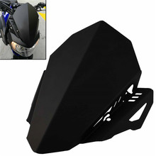 Мотоцикл с ЧПУ алюминиевое ветровое стекло дефлектор верхняя крышка комплект черный для YAMAHA FZ07 FZ-07 MT-07