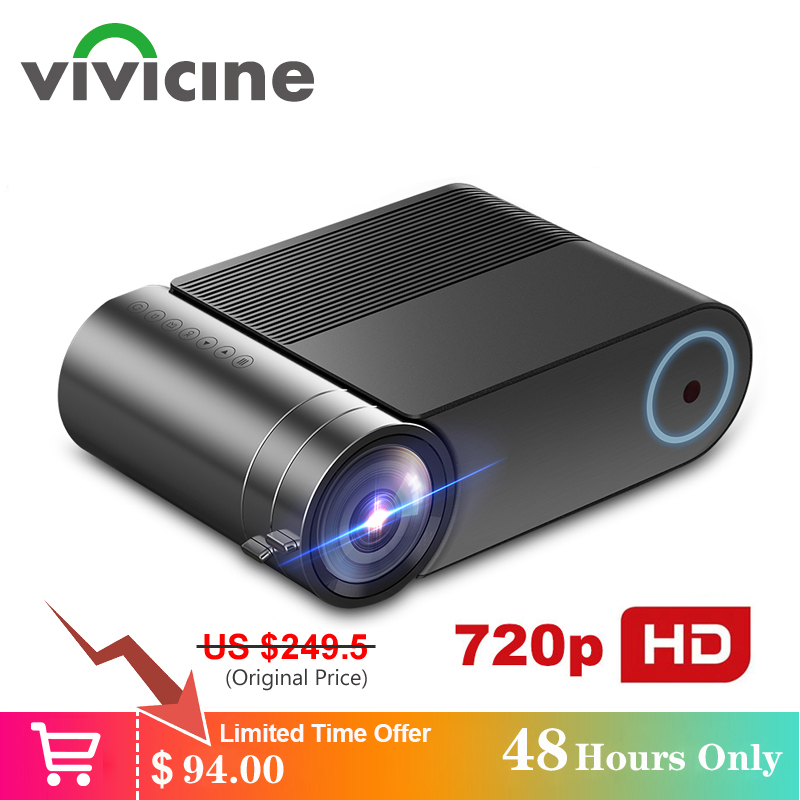 VIVICINE 720p HD LED Projetor, opção Android 9.0 HDMI USB 1080p Home Theater Projetor Portátil Bluetooth WI-FI Mini Projetor CONDUZIDO