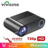 VIVICINE 720p HD светодиодный проектор, опция Android 9,0 портативный HDMI USB 1080p домашний кинотеатр проектор Bluetooth WIFI мини светодиодный проектор