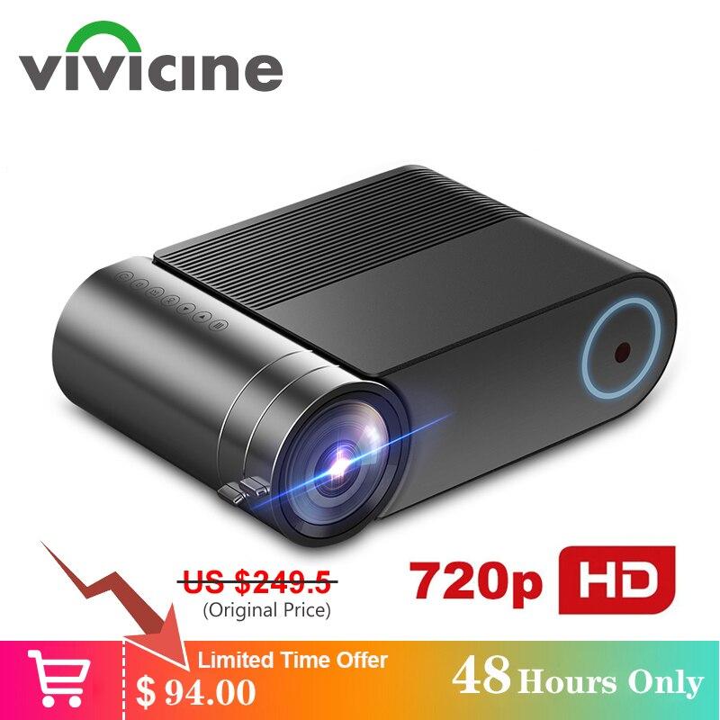 Vivicine 720p hd led projetor, opção android 9.0 portátil hdmi usb 1080p casa teatro proyector bluetooth wifi mini led beamer