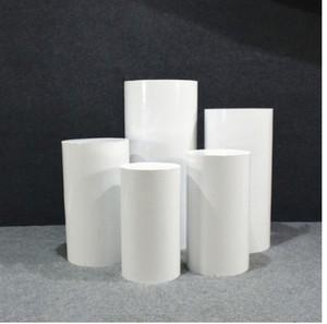 Round 5pcs Risers White Iron Cylinder Plinth Display Party Pedestal Wedding