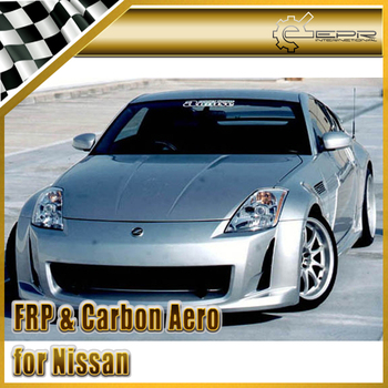 FRP AMUSE Front Bumper For Nissan Z33 350z Infiniti G35 2003-2008 Coupe 2Door AM Style Glass Fiber Front Bumper Body Kit Tuning
