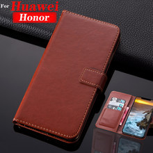 Wallet Leather case on honor 7a pro 7c 8a 8x 8c 7x 7s 6 7 8 9 a c x s cover for huawei xonor a7 c7 c8 9 10 lite light life Honer(China)