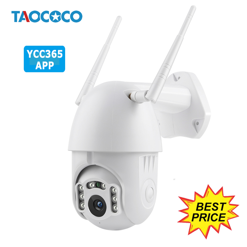YCC365 Auto Tracking Waterproof HD IP Camera Outdoor 1080P Speed Dome Surveillance Cameras WiFi Wireless Security CCTV Camera