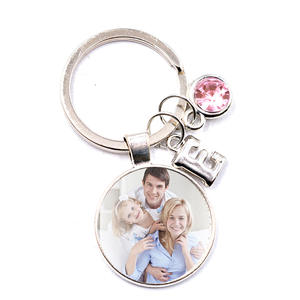 Keychain Gift Glass-Cabochon Photo Custom Family-Put Baby Friends Square Lover Your FLTMRH