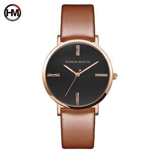 Image 4 - Japan imported movement Genuine Leather New simple design watch women fashion Luxury Brand quartz clock Ladies wrist watches