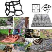 DIY траектория производитель плесень пластиковый тротуар вручную тротуарной формы для цементных кирпичей камень дорога бетонный инструмент для садовых принадлежностей