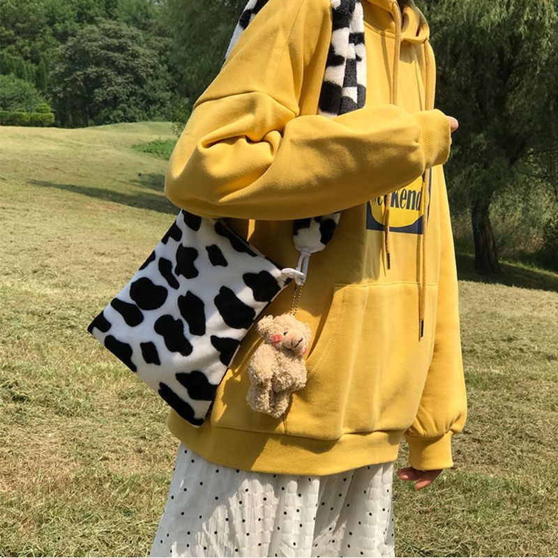 Women Ladies Cow Pattern Crossbody Shoulder Bag Tote Purse Messenger Satchel High Quality and Brand New