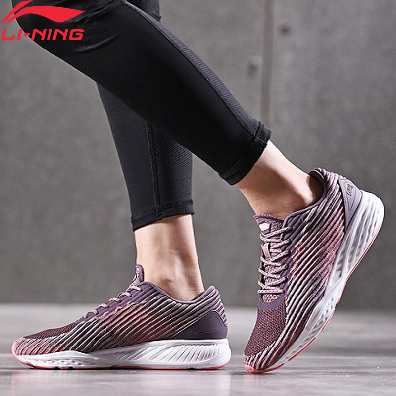 Li-Ning Women LN CLOUD Cushion Running Shoes Mono Yarn LiNing Li Ning Sport Shoes Breathable Footwear Sneakers ARHN006 XYP642