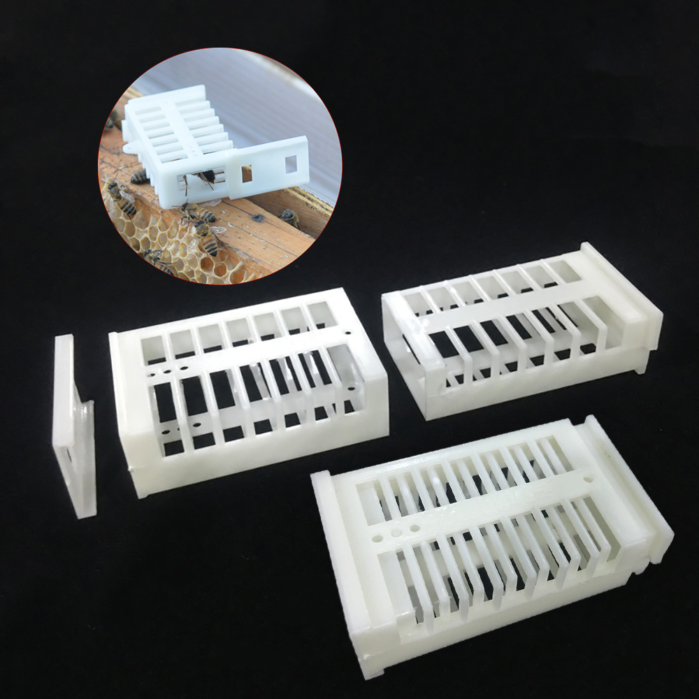 Queen Bee Cages Plastic White Transparent Move Beekeeping Protection Cover 20Pcs