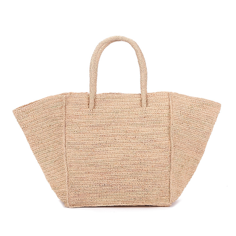 2020 New Large Capacity Raffia Straw Woven Bag European And American Holiday Travel Beach Bag Woman Generous Bag