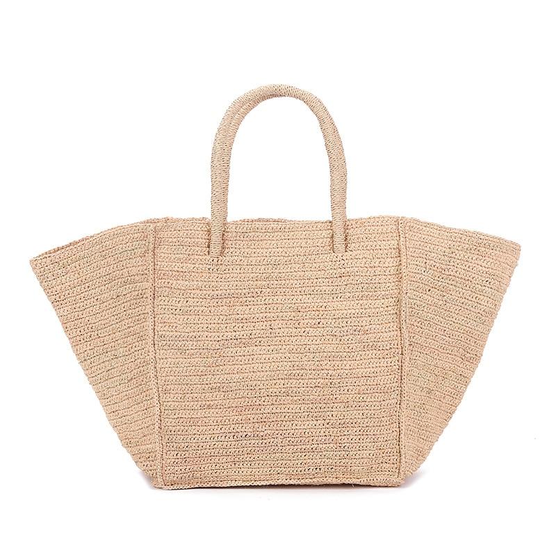 2020 New Large Capacity Raffia Straw Woven Bag European And American Holiday Travel Beach Bag Woman Generous Bag