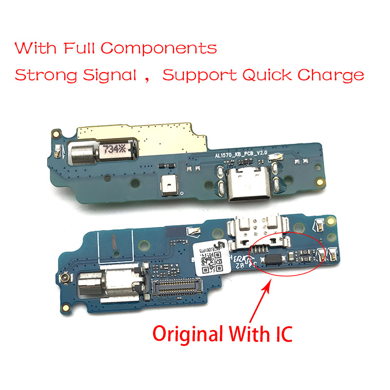 New For Lenovo K8 Note Micro USB Charger Dock Connector Charging Port Microphone Flex Cable Replacement Parts