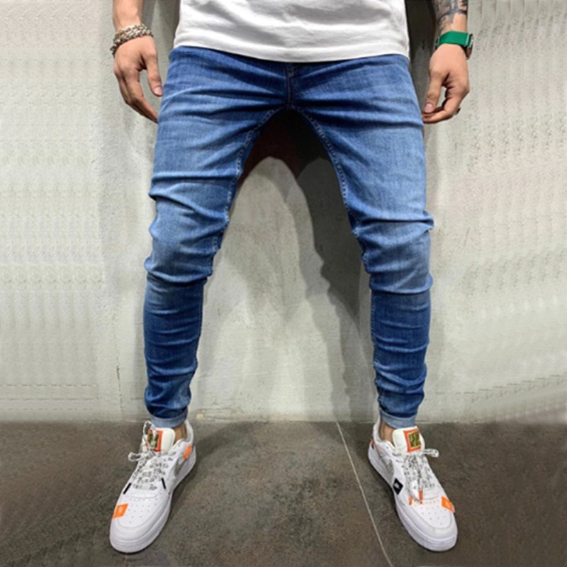 Men Jeans Pants Casual Trousers Fashion Skinny Jeans Casual Stretch Slim Jeans Homme Streetwear Trousers 3 Styles Jeans