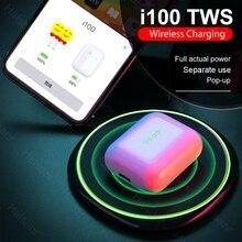 i100 TWS Earbuds Wireless Bluetooth Earphones 1:1 Pop up QI Charging Real Battetry Show PK i90 i80 i60 i30 i20