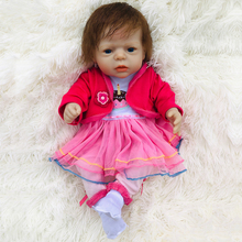 Boutique NPK Silicone Reborn Baby Dolls In Pink About 26cm High Quality 100% real Doll Reborn For girl Gift Bonecas Bebe Reborn