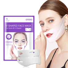EFERO Hydrating Mask with Hanging Ear Type Lift Firming V Face Up Line Skin Care Bands Reduce Double Chin