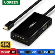 Adaptateur Ugreen Mini DisplayPort vers HDMI VGA DVI convertisseur Thunderbolt 2 HDMI câble Mini DP pour Surface Pro 4 Mini DisplayPort