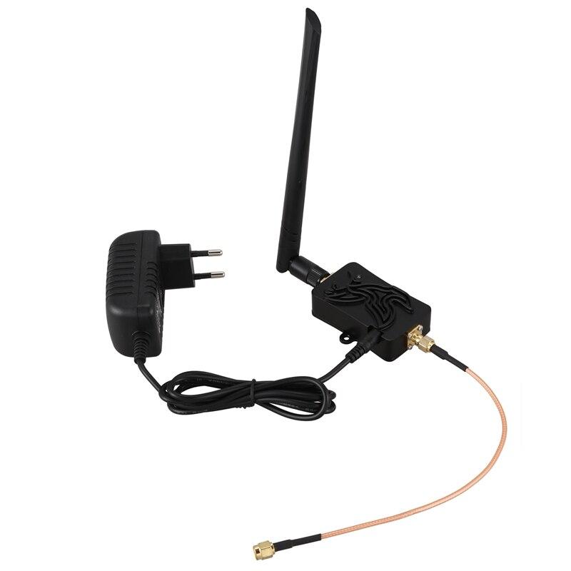 4W 802.11B/G/N Bluetooth Wifi Wireless Amplifier Router 2.4Ghz WLAN ZigBee BT Signal Booster Antenna EU Plug