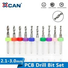 цена на HOT 10pcs 2.1mm to 3.0mm PCB mini drill Bit tungsten steel carbide for print circuit board cnc drill Bits Machine