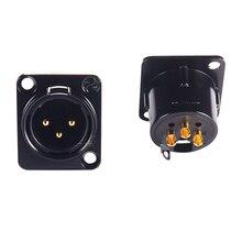 2 adet NEUTRIK XLR dişi erkek şasi Panel soketi CD amplifikatör