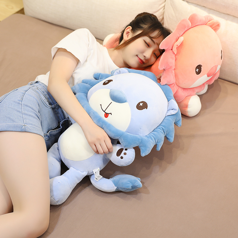 Nice 1pc 30CM-80cm Cute Stuffed Lion Plush Toy Soft Pillow Kawaii Cartoon Animal Down Cotton Doll for Kids Lovely Chilren's Gift  - buy with discount
