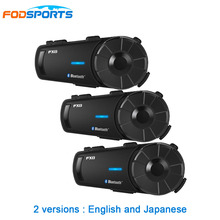 3pcs Fodsports FX8 intercom motorcycle helmet bluetooth headset FM Radio 8 Riders Group Talk 1000m intercomunicador moto