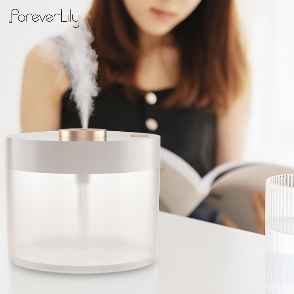Wireless Large Capacity Humidifier Fog Diffuser Purifying Mist Maker Lamp LED Night Light Homeuse USB Ultrasonic Air Humidifier