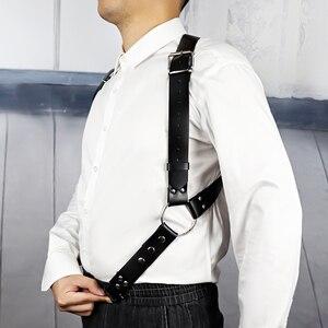 Image 2 - UYEE erkekler jartiyer Goth demeti Lingerie Harajuku seksi jartiyer deri askı kayışları koşum vücut bandaj seksi Vintage