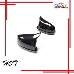 Image 1 - Hinzufügen Auf/Ersatz Stil Glanz Schwarz Carbon Fiber Körper Seite Rückspiegel Abdeckung Für BMW 5 Serie f10 2010 2011 2012 2013