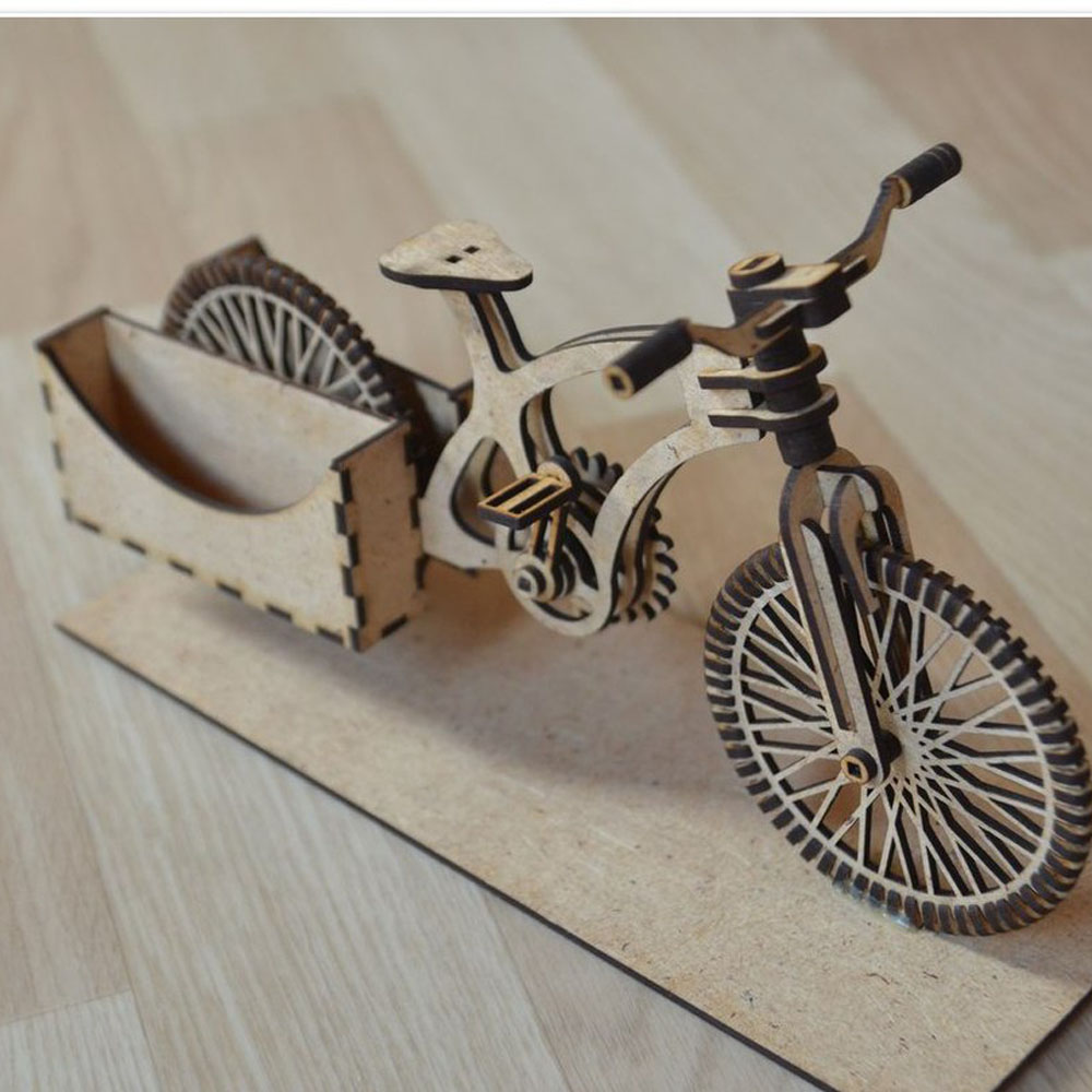 Old Classic Bike Vector Design Drawing File For CNC Laser Cutting  Wood Acrylic Cutting File