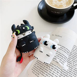 3D cute Cartoon How to Train Your Dragon Toothless silicon case for airpds pro 3 airpods 2 1 wireless charging Bluetooth cover(China)