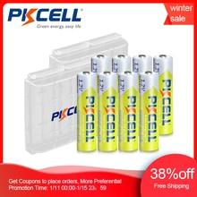 Bateria recarregável 1.2 mah da bateria 1000mah da bateria v ni mh aaa de 8 pces pkcell baterias 3a bateria com suporte da bateria de 2 pces aaa/aa