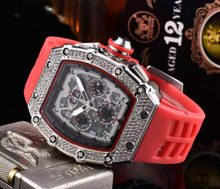 New Skull Mens Watches Rectangle Square Watches Luxury Fashion Quartz Wristwatches Business Men Watch Wholesale(China)