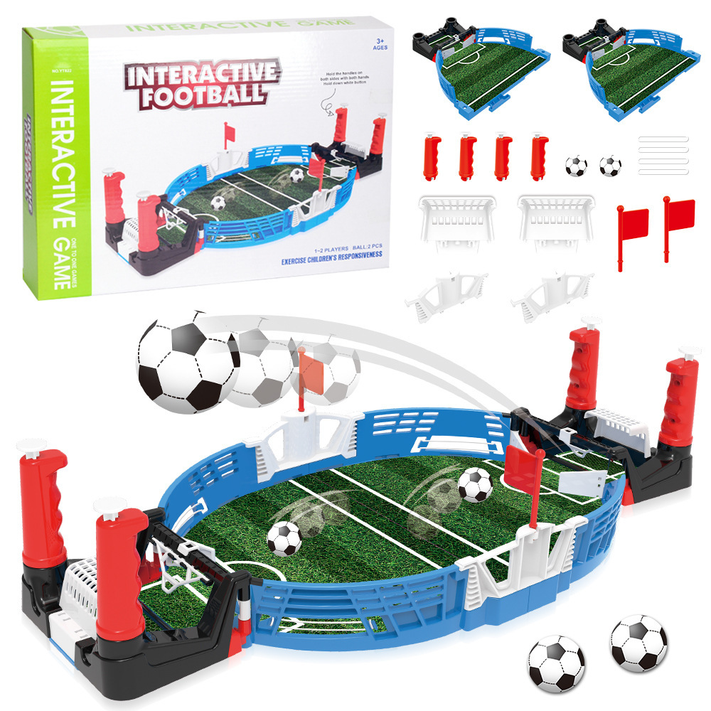 Mini Tabletop Soccer Footbal Game Machine Creative Desktop Two-Player Game Finger Sports Toy Party Games For Kids Toddler image
