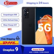 OnePlus-teléfono móvil OnePlus 9, versión china, 5G, 256GB GB de 2021, cámara de 48MP, Pantalla AMOLED de 128Hz, carga Warp 65T, novedad de 120