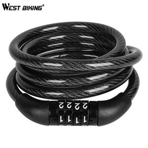 1.2m cable bicycle lock rope anti-theft Motorbike Disc Lock Security RCWY
