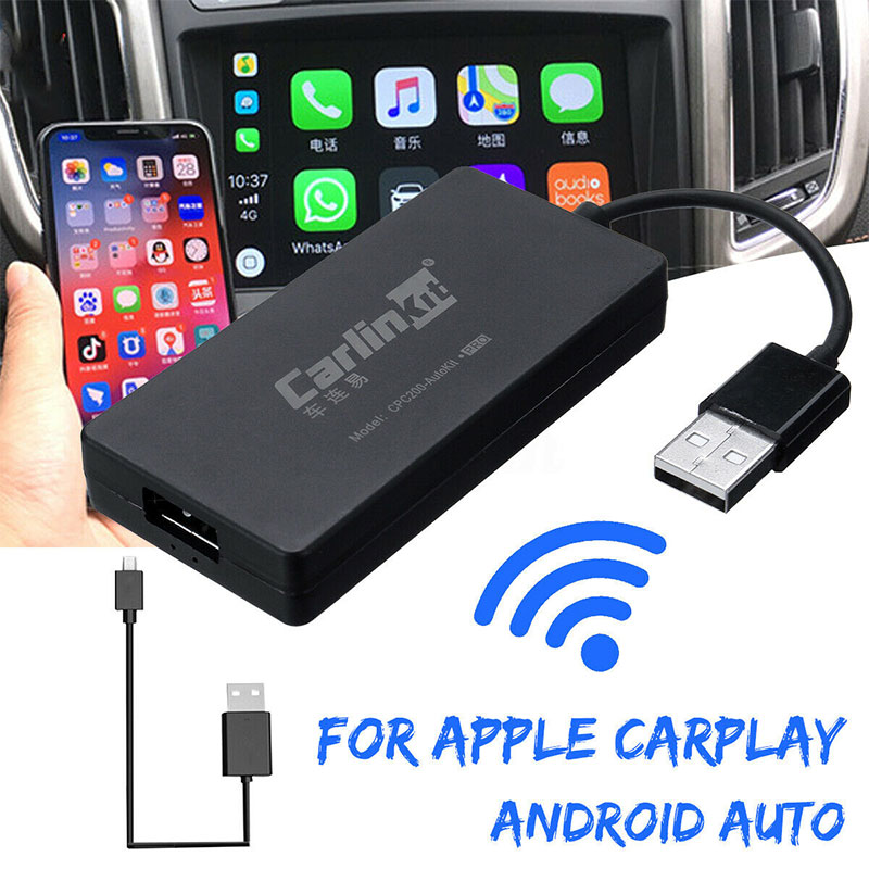 Carlinkit Wireless Smart Link for Apple CarPlay Dongle voor Android Navigatie Speler USB Carplay Stok Met Auto