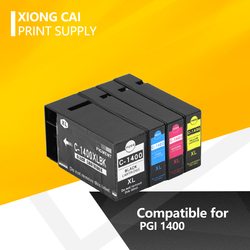 4X XiongCai kompatybilne tusze do drukarek do Canon PGI 1400 MAXIFY MB2040 MB2340 MB2140 MB2740 drukarki drukarki PGI 1400 PGI1400 XL w Tusze do drukarek od Komputer i biuro na