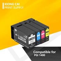 4X Xiongcai Compatibele Inkt Cartridges Voor Canon Pgi 1400 Maxify MB2040 MB2340 MB2140 MB2740 Printer Printers PGI 1400 PGI1400 Xl-in Inktpatronen van Computer & Kantoor op