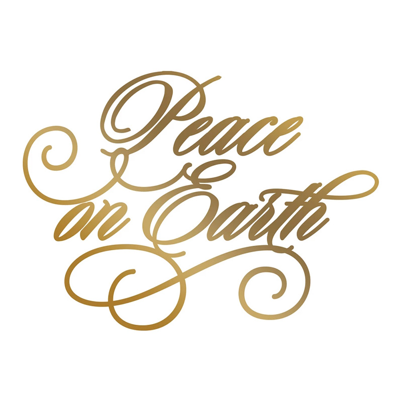 Peace On Earth Metal Hot Foil Plates New 2019 for DIY Scrapbooking Letterpress Embossing Cards Making Crafts Supplies in Cutting Dies from Home Garden