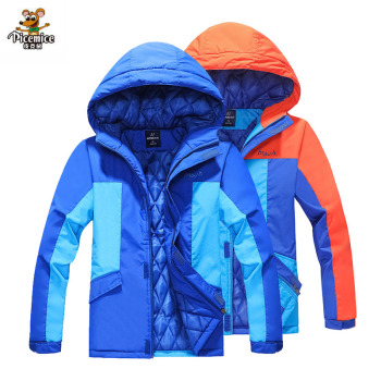 Girls Boy Coat Outerwear Windbreaker Waterproof Jacket For Kids 2020 Autumn Winter Children Warm Hoodies Fit 3-15 Years