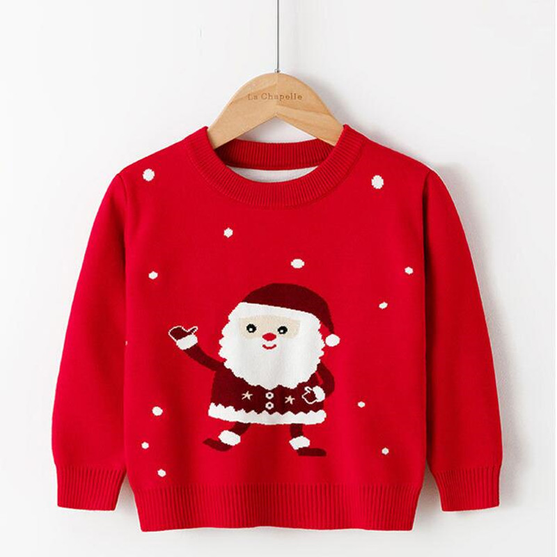 Children Sweater 2021 Autumn Cartoon Christmas Pullover Knit Warm Sweaters Birthday Costume Girls Boys Printing Sweaters Clothes 3