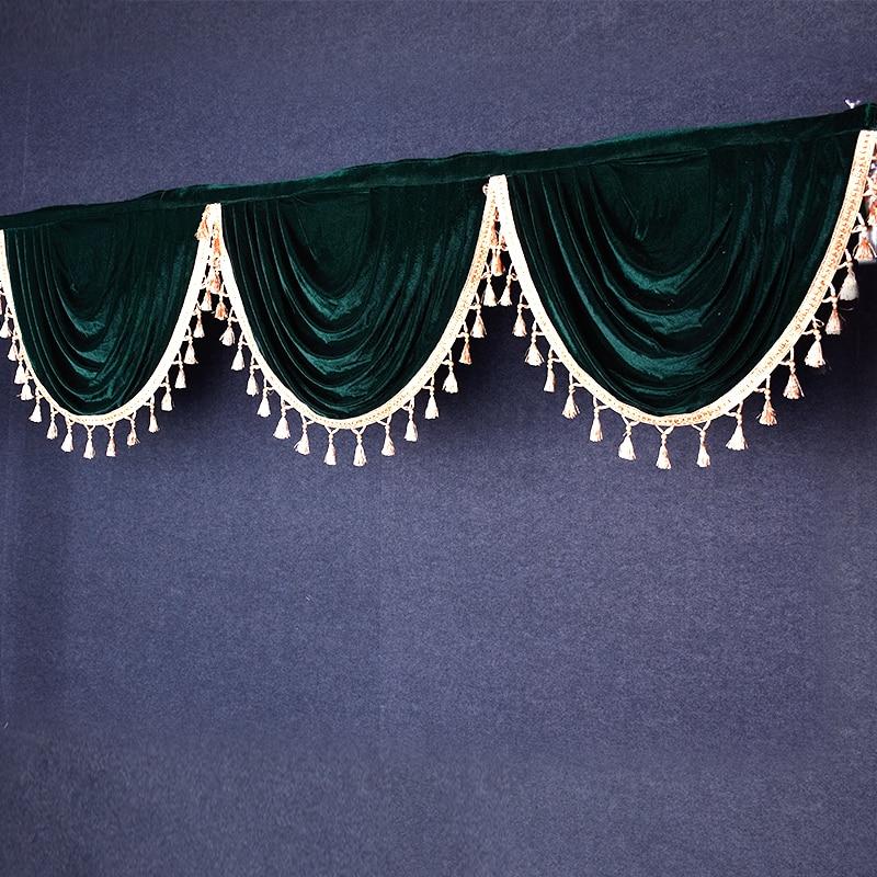 Gold Velvet Wedding Props Background Gauze Tassel Pendant Decoration Stage Ceremony Backdrop Curtain